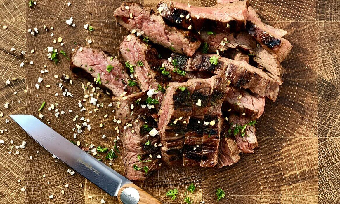 skirt steak-Skirt Steak Teriyaki-Skirt Steak vom Grill in Teriyaki-Marinade
