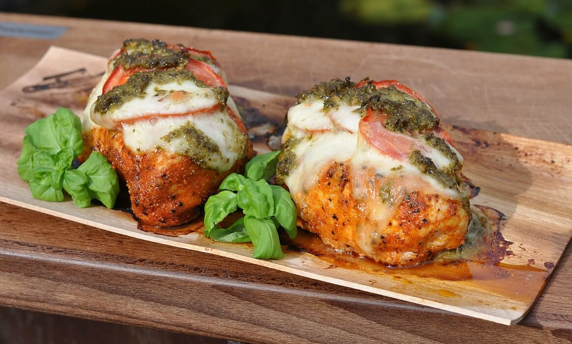 Hähnchen Tomate-Mozzarella hähnchenbrust caprese-Haehnchenbrust Caprese Tomate Mozzarella Planke-Hähnchenbrust Caprese mit Tomate & Mozzarella