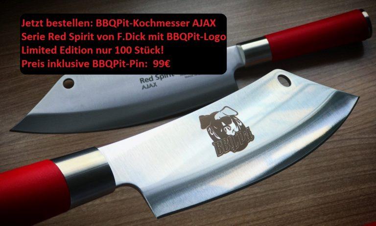 BBQPit-Kochmesser AJAX Red Spirit von F.Dick – Limited Edition 99€