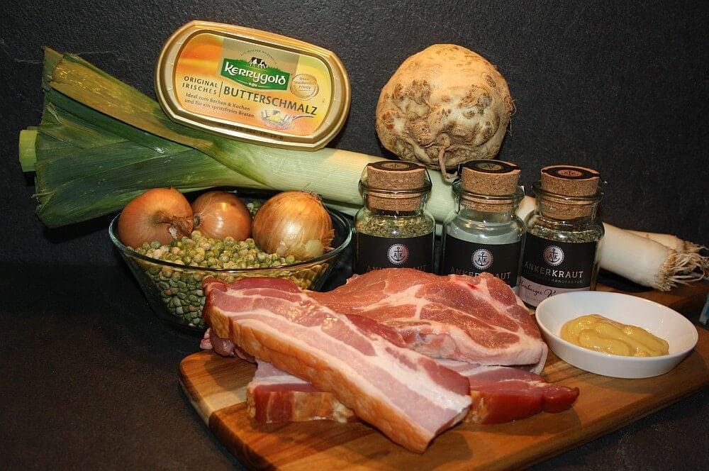 Zutaten für Erbsensuppe aus dem Dutch Oven erbsensuppe aus dem dutch oven-Erbsensuppe aus dem Dutch Oven 01-Erbsensuppe aus dem Dutch Oven