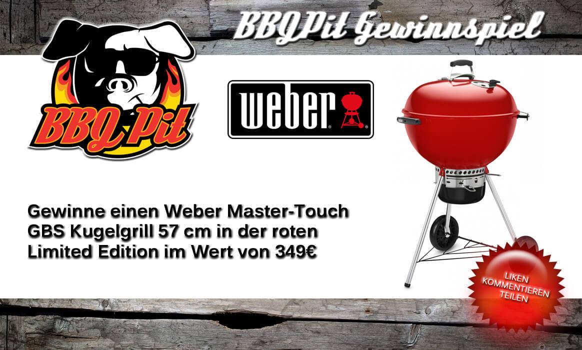 gewinne einen weber kugelgrill-Gewinnspiel Weber Master Touch GBS Red Limited Edition-Gewinne einen Weber Kugelgrill Master-Touch GBS Limited Edition Red im Wert von 349€