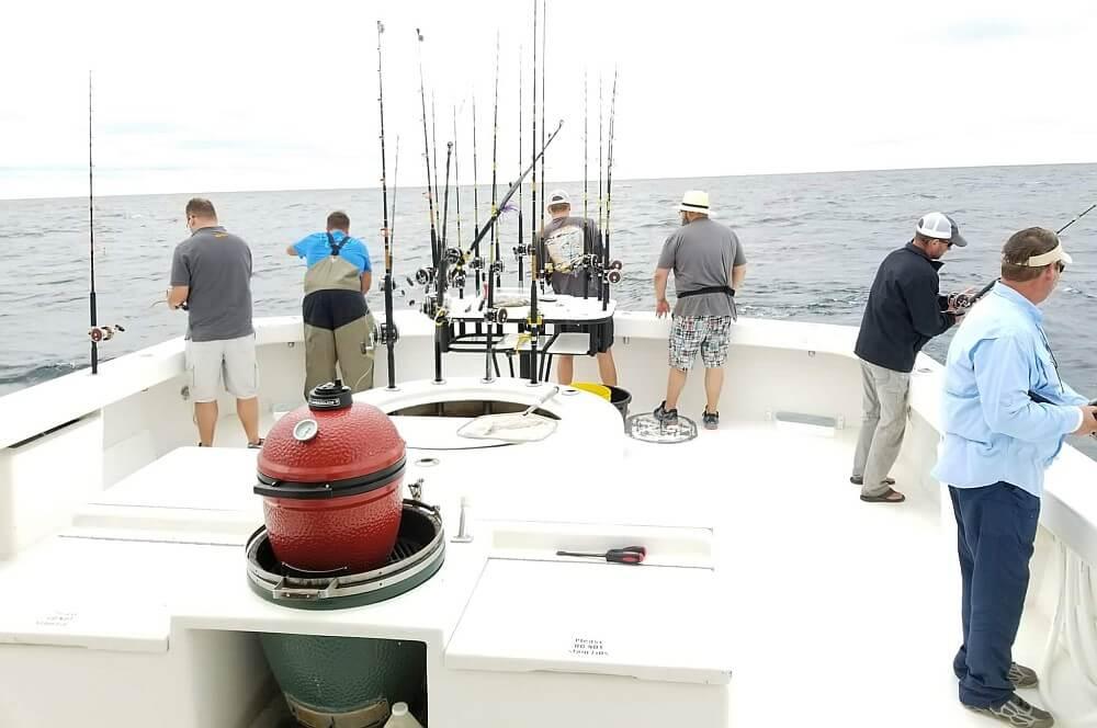Hochseeangeln hochseeangeln-Hochseefischen Kamado Joe 08-Hochseeangeln mit Kamado Joe im Golf von Mexiko