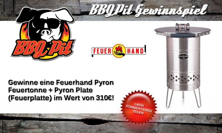 Feuerhand-Gewinnspiel: Gewinne eine Pyron Feuertonne + Feuerplatte