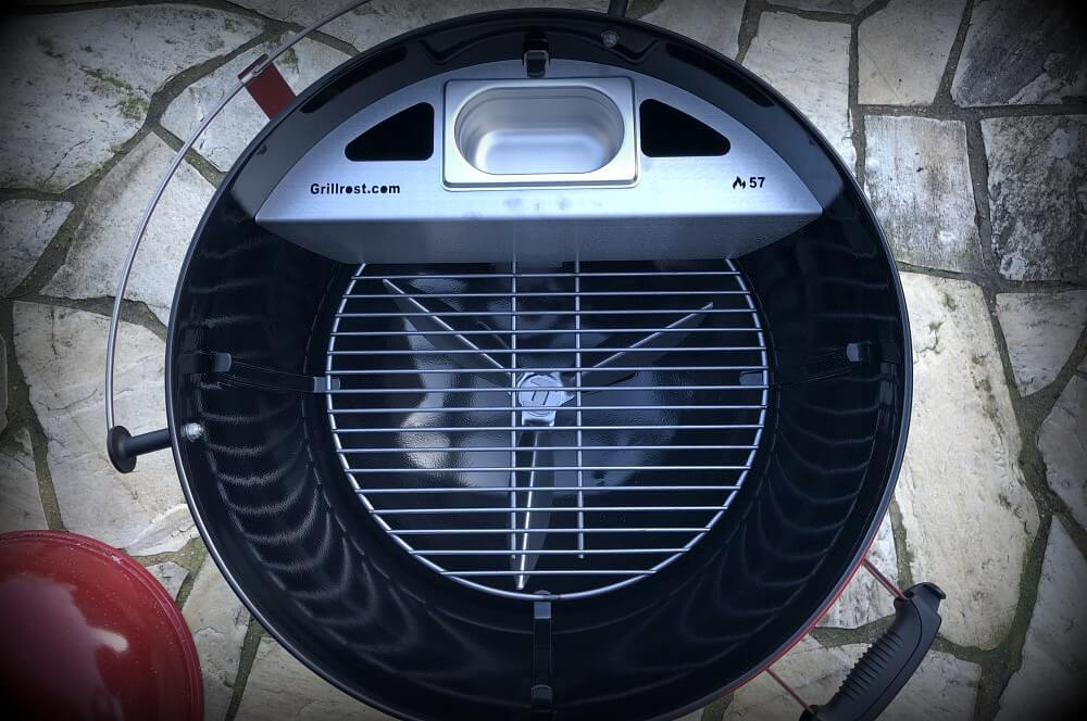 Grillrost.com Kugelsmoker kugelsmoker-Kugelsmoker 57er Kugelgrill Smokenator Grillrost 01-Kugelsmoker von Grillrost.com – Smokenator-Einsatz für Kugelgrills