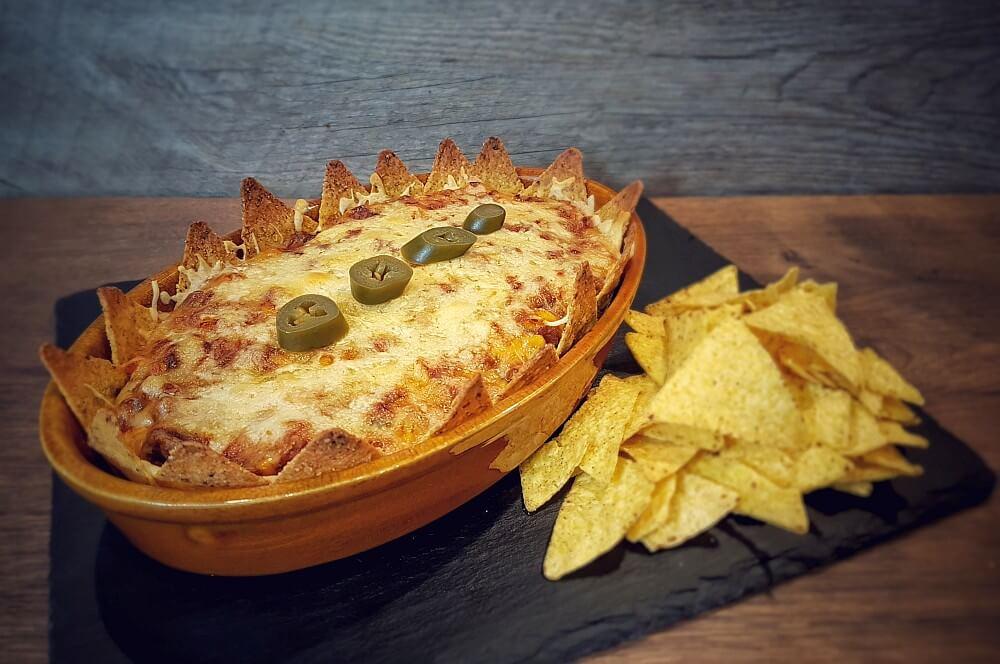 Nachoauflauf mit Tortilla-Chips nachoauflauf-Nachoauflauf Hackfleisch Kaese 05-Nachoauflauf mit Hackfleisch und Käse