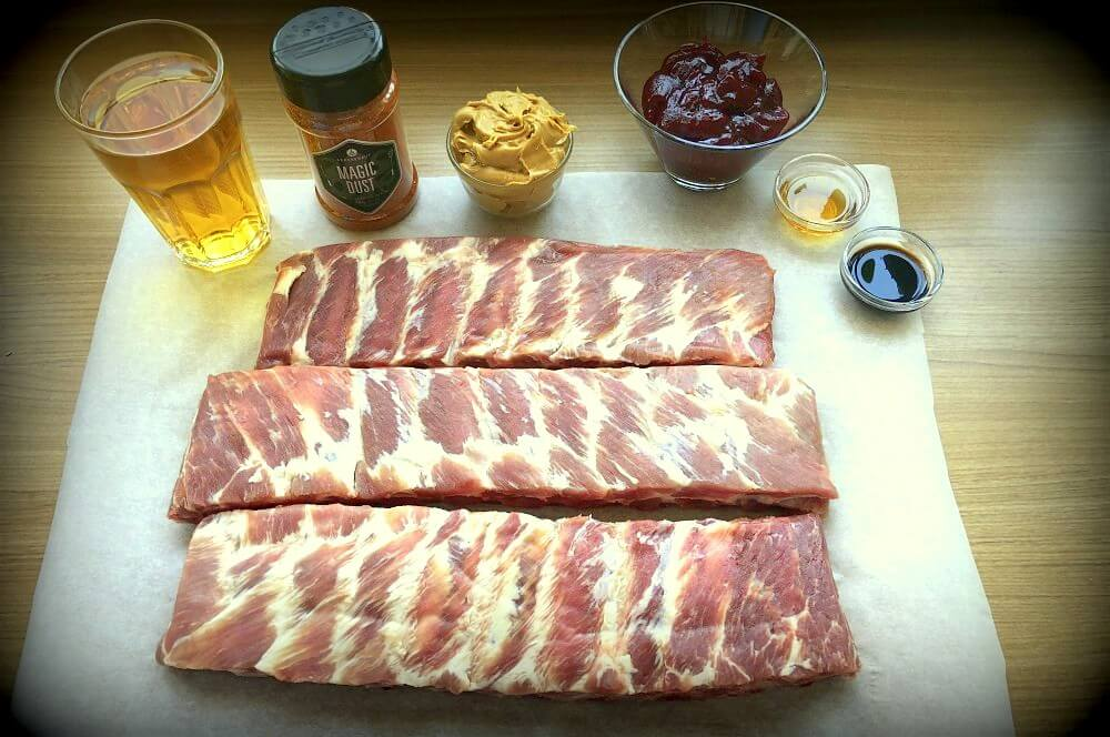 Alle Zutaten für Peanut Butter Jelly Ribs auf einen Blick peanut butter jelly ribs-Peanut Butter Jelly Ribs 01-Peanut Butter Jelly Ribs