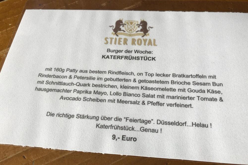 Burger der Woche stier royal-Stier Royal Duesseldorf Burger Test 03-Stier Royal Burger-Restaurant in Düsseldorf