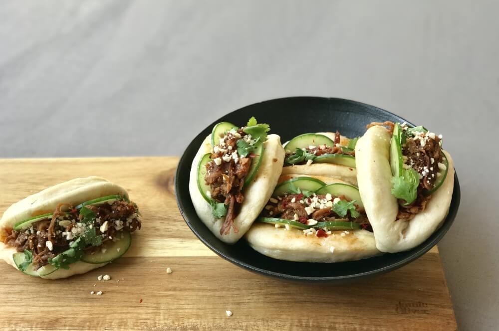 Gedämpfte Brötchen - Bao Buns mit Pulled Pork gedämpfte brötchen-Gedaempfte Broetchen Bao Buns 07-Gedämpfte Brötchen – Bao Buns selber machen