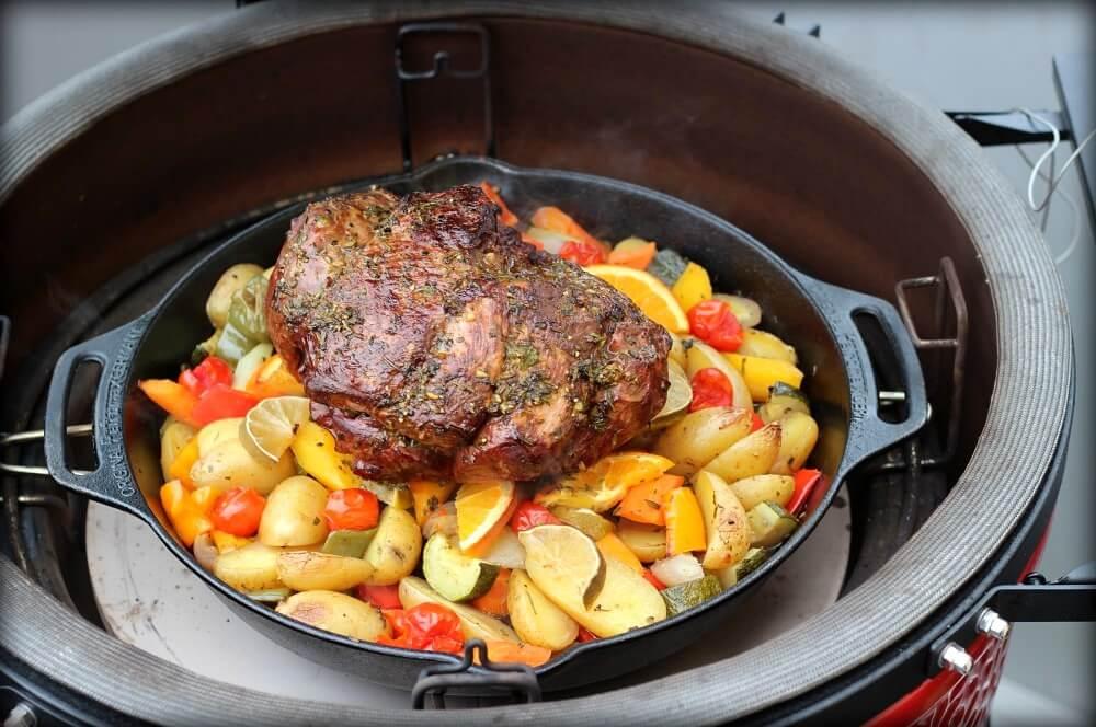 Lammkeule vom Grill lammkeule vom grill-Lammkeule vom Grill 05-Lammkeule vom Grill mit mediterranen Kräutern