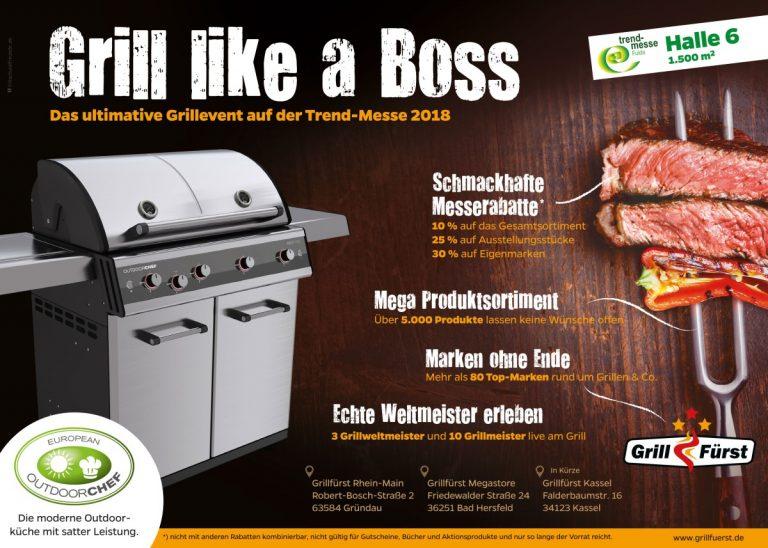 Grillfürst Grillmesse 2018 auf der Trendmesse in Fulda vom 15.-18.03.
