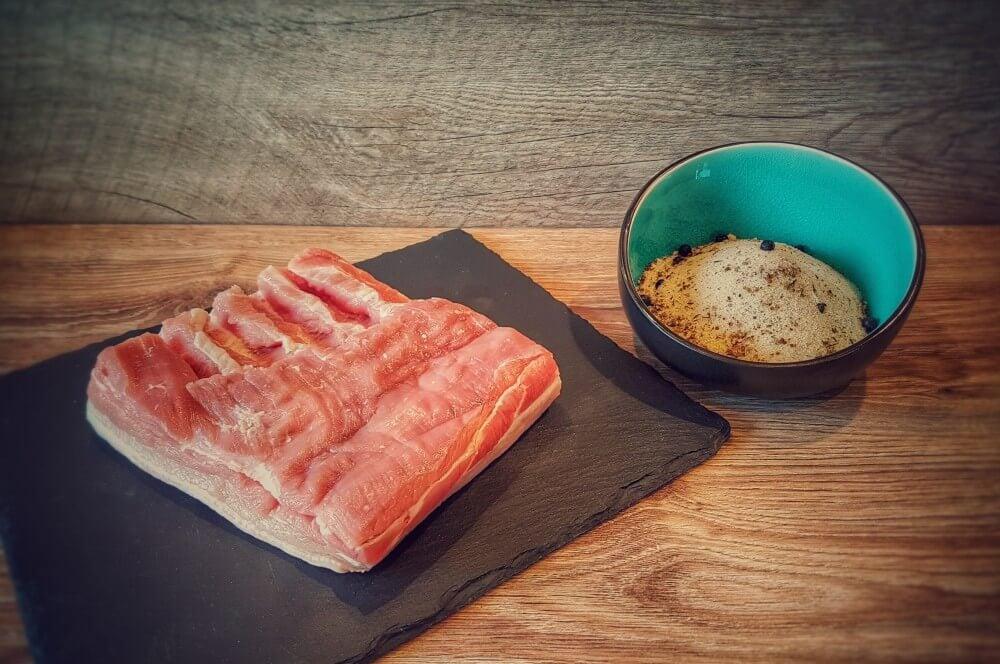 Bacon selber räuchern  bacon selber machen-Bacon selber machen Fruehstuecksspeck raeuchern 01-Bacon selber machen – Frühstücksspeck pökeln und räuchern