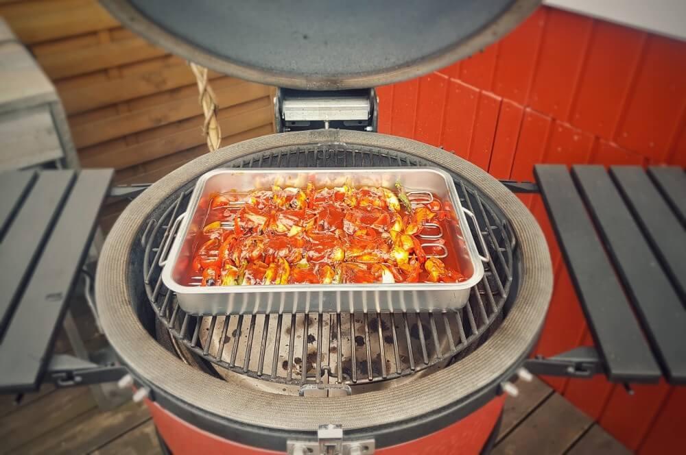 Schaschlick auf dem Kamado Joe schaschlik-Schaschlik Schaschlickspiesse 05-Schaschlikspieße vom Grill