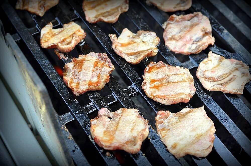 Rinderzunge auf dem Grill gegrillte rinderzunge-Gegrillte Rinderzunge Wagyu Gyutan 03-Gegrillte Rinderzunge – Wagyu Zunge asiatisch (Gyūtan)