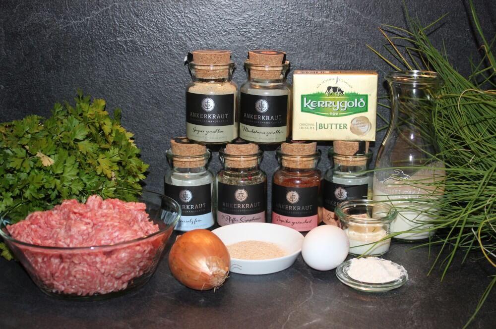 Alle Zutaten für Köttbullar auf einen Blick köttbullar-Koettbullar Schwedische Hackfleischbaellchen 01-Köttbullar – Rezept für schwedische Hackfleisch-Bällchen