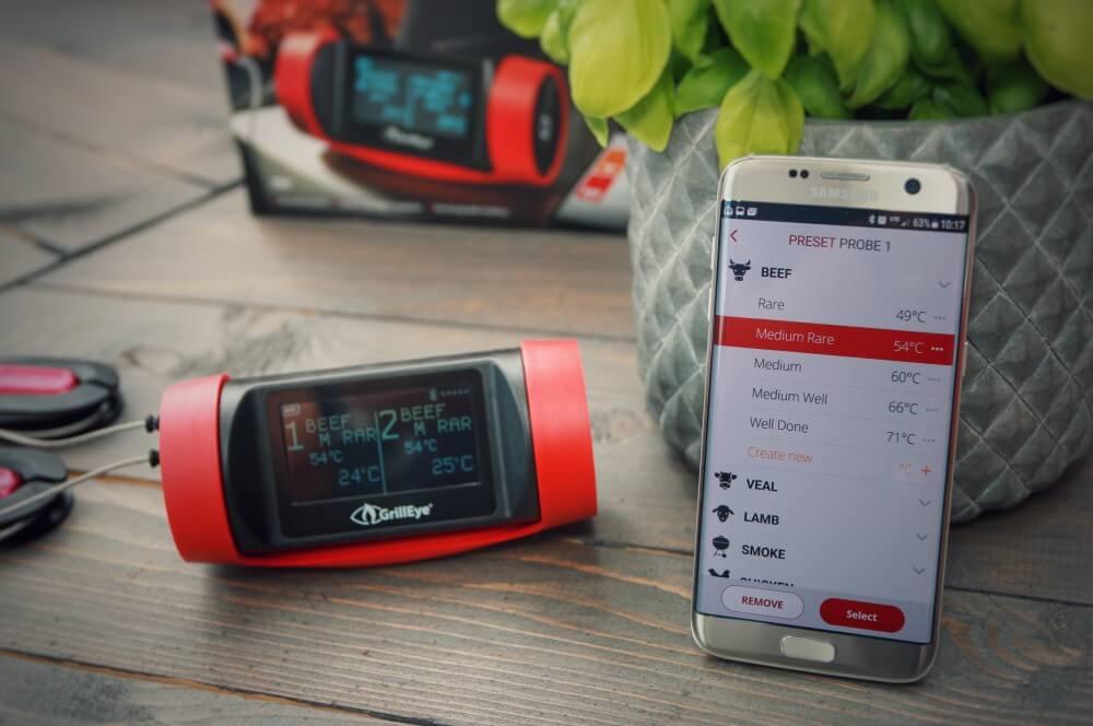 Die übersichtliche und funktionelle App ist sehr gelungen grilleye pro plus-GrillEye Pro Plus Thermometer Test 03-GrillEye Pro Plus – Test des Bluetooth & WLAN-Grillthermometers