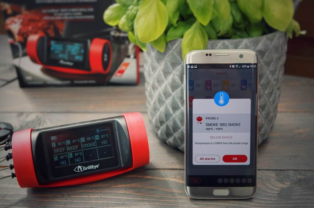 Die neue GrillEye-App auch für Android und iOS (auch Apple Watch) grilleye pro plus-GrillEye Pro Plus Thermometer Test 04-GrillEye Pro Plus – Test des Bluetooth & WLAN-Grillthermometers