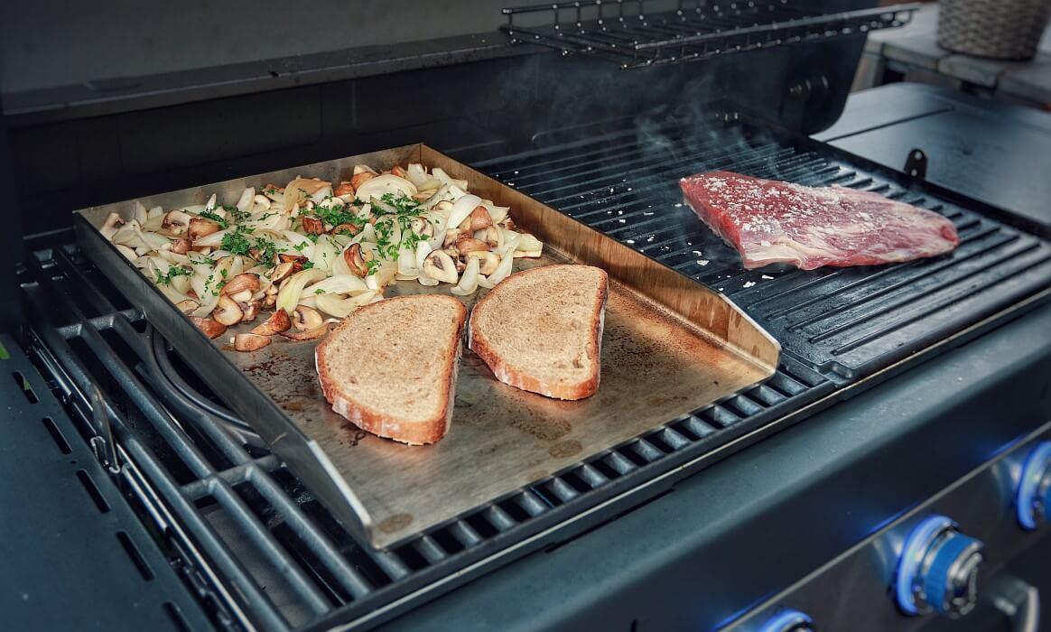 Außenküche Selber Bauen Test : Edelstahl grillplatte plancha von grillrost.com im test bbqpit.de