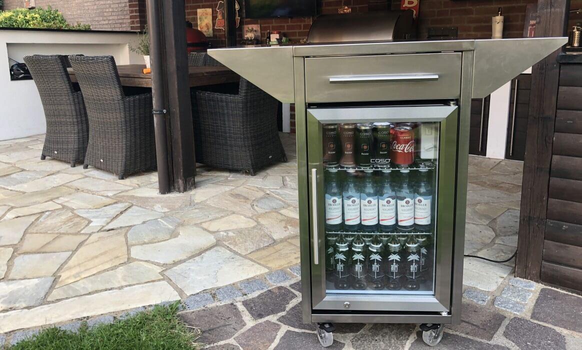 Outdoorküche Mit Kühlschrank Vergleich : Outdoor kühlschrank der caso barbecue cooler counter cool
