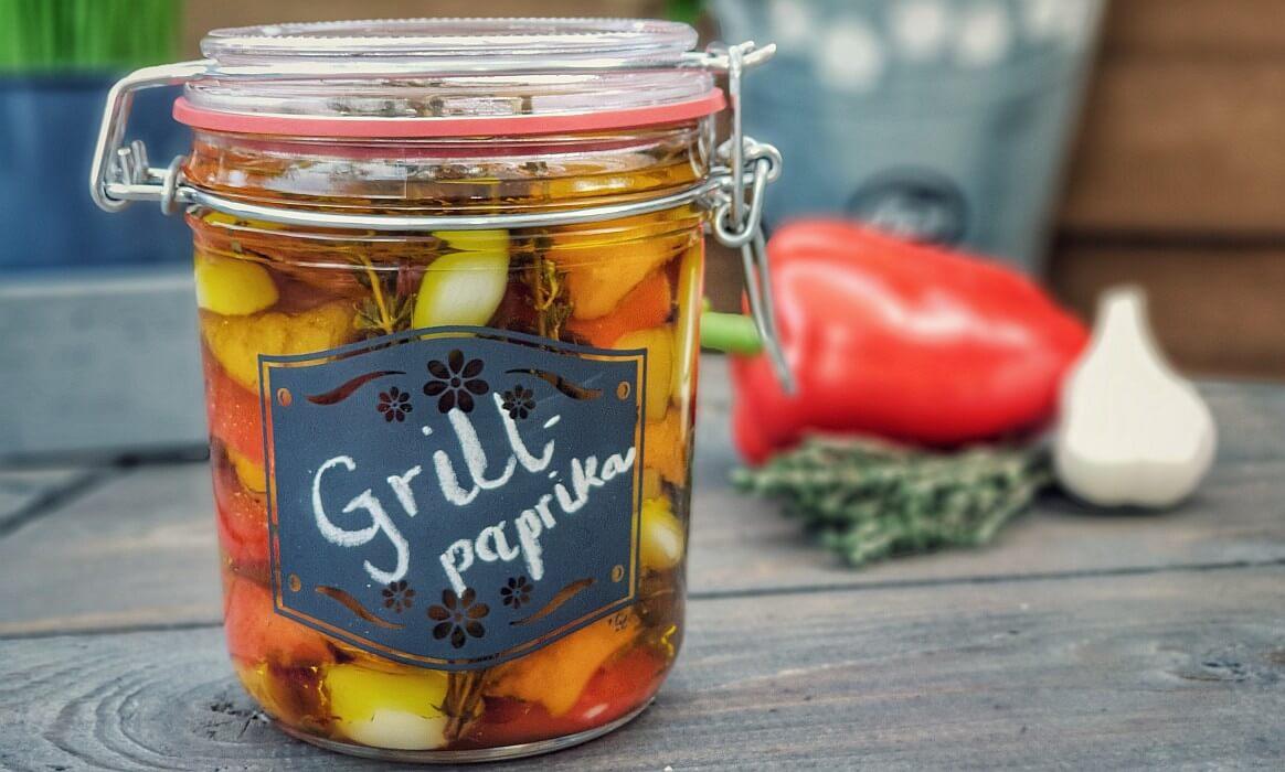gegrillte Paprika in Kräuteröl eingelegte paprika-Eingelegte Paprika Grillpaprika-Eingelegte Paprika – Grillpaprika in Kräuteröl