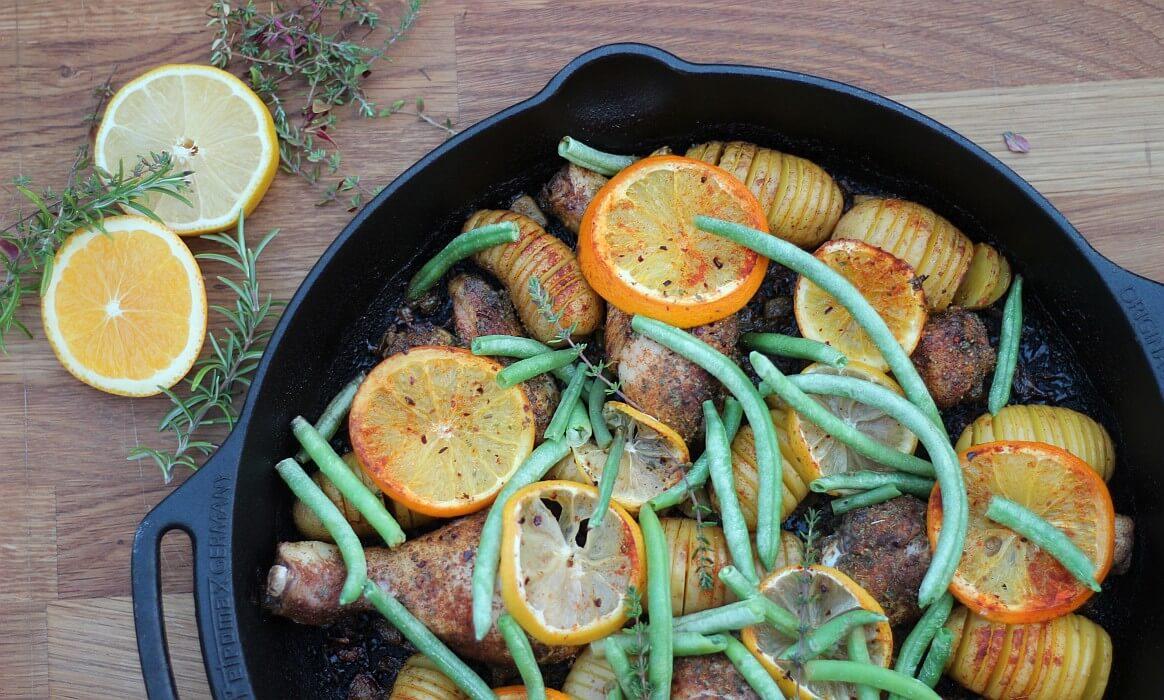 Hähnchen mit Fächerkartoffeln zitronenhähnchen-Zitronenhaehnchen-Zitronenhähnchen mit Fächerkartoffeln
