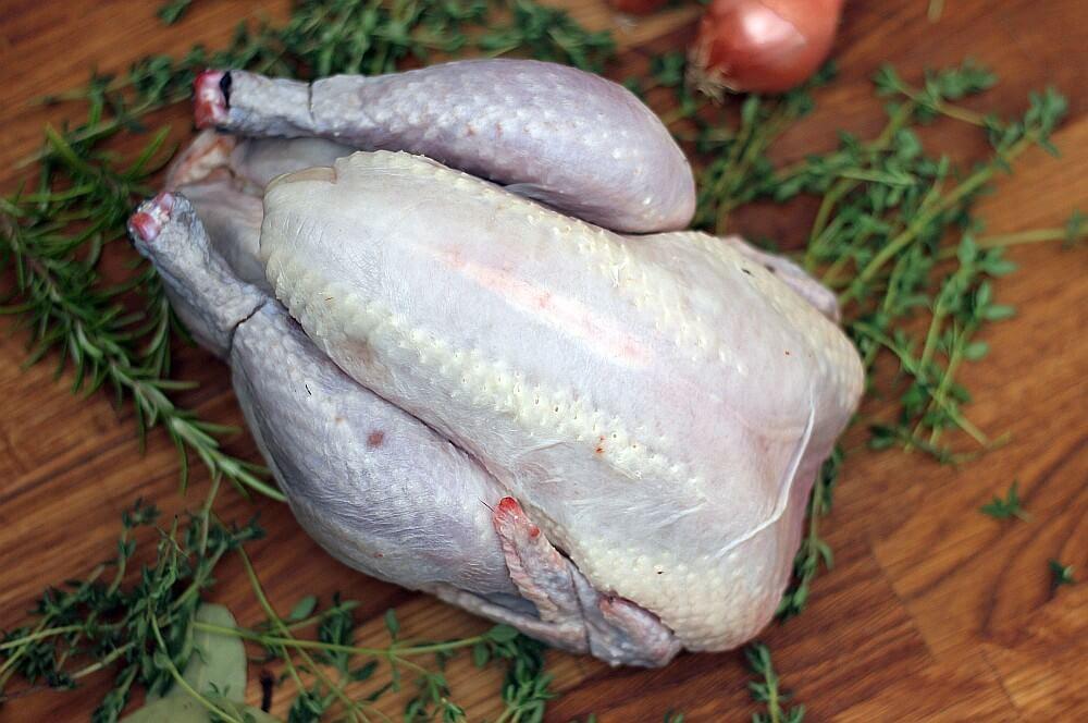 Label Rouge Schwarzfederhuhn zitronenhähnchen-Zitronenhaehnchen 01-Zitronenhähnchen mit Fächerkartoffeln