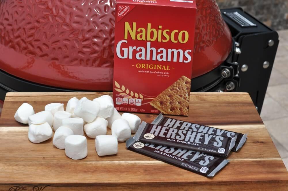 S'Mores Zutaten s'mores-Smores Schokolade Marshmallows Keks 01-S'Mores – Süßes Sandwich mit Keksen, Marshmallows und Schokolade