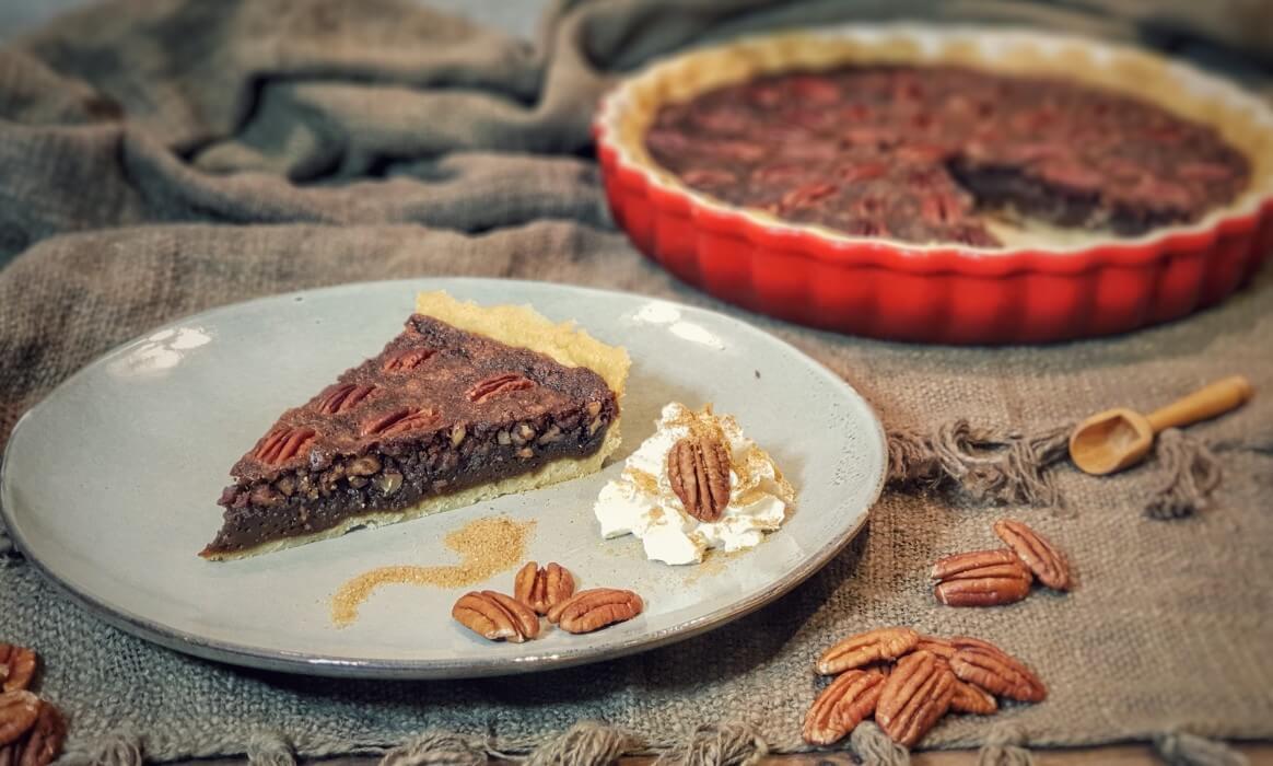 Pekannusskuchen pecan pie-Pecan Pie Pekannusskuchen-Pecan Pie – amerikanischer Pekannusskuchen