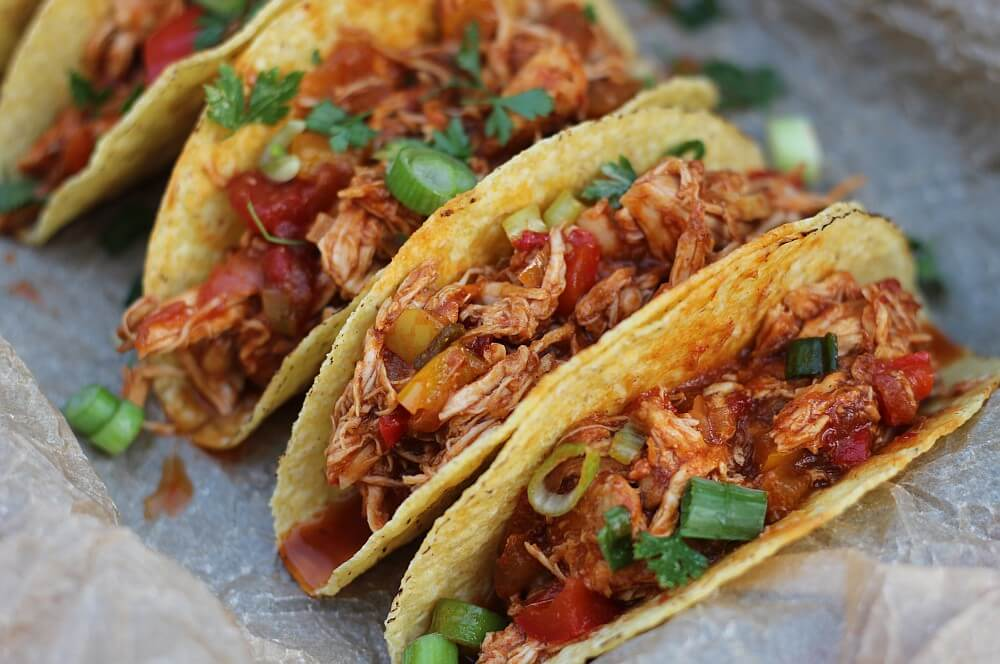 Pulled Chicken Tacos pulled chicken aus dem dutch oven-Pulled Chicken Dutch Oven 05-Pulled Chicken aus dem Dutch Oven / Pulled Chicken Tacos