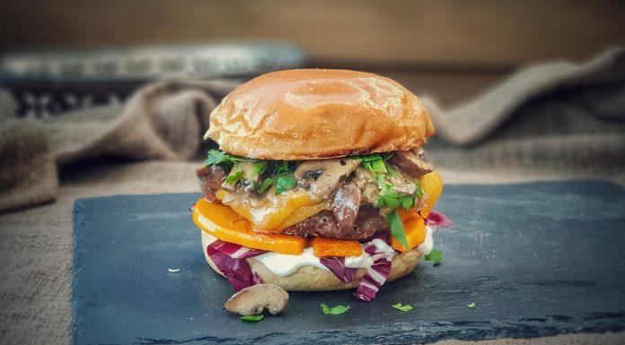 Burger mit Kürbis