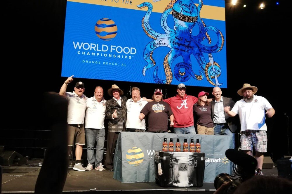 Grand Champion in der Vorrunde - Platz 1 beim Barbecue EAT! world bbq champion 2018-World BBQ Champion 2018 World Food Championships BBQ Wiesel 11-World BBQ Champion 2018 mit den BBQ Wieseln in Orange Beach!