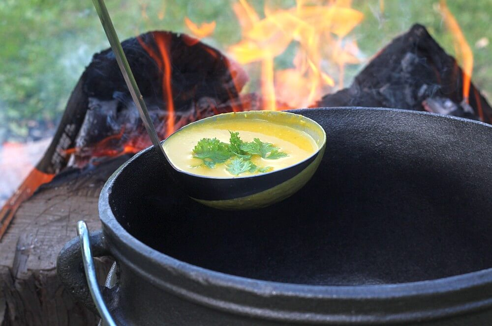Kürbissuppe aus dem Potjie kürbissuppe-Kuerbissuppe Potjie 02-Kürbissuppe aus dem Potjie