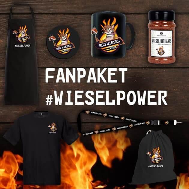 Das BBQ Wiesel Fanpaket: Nur für Grillkursteilnehmer! grillkurse mit den grillweltmeistern-Fanpaket Wieselpower-Grillkurse mit den Grillweltmeistern BBQ Wiesel und BBQPit
