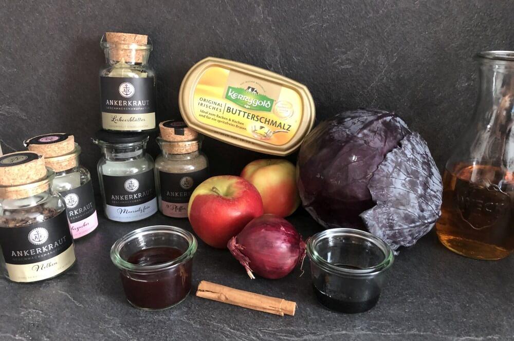 Rotkohl selber machen - alle Zutaten auf einen Blick rotkohl selber machen-Rotkohl selber machen 01-Rotkohl selber machen – Rezept für Apfel-Rotkohl
