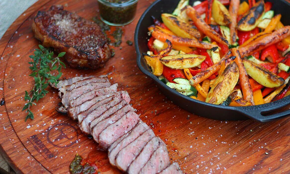 Roastbeef mit Gemüsepfanne roastbeef mit grillgemüse-Roastbeef mit Grillgemuese vom OFB-Roastbeef mit Grillgemüse vom Elektro-O.F.B.