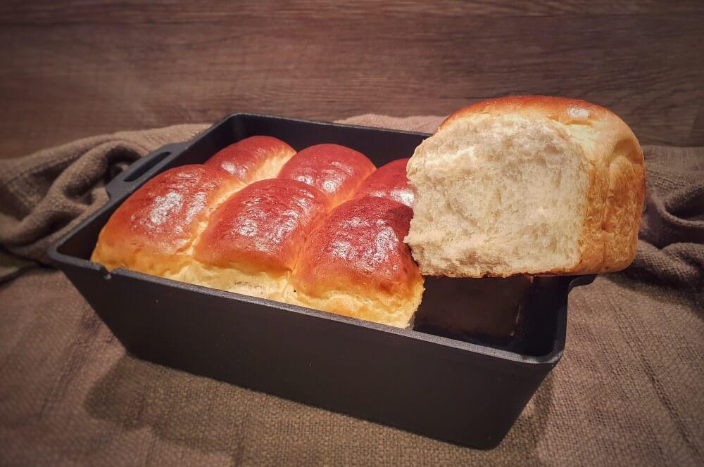 Fluffiges Brioche aus der Petromax Kastenform k8 brioche-Brioche Brot Milchbrot 07-Brioche – Rezept für Milchbrot / süßes französisches Weißbrot