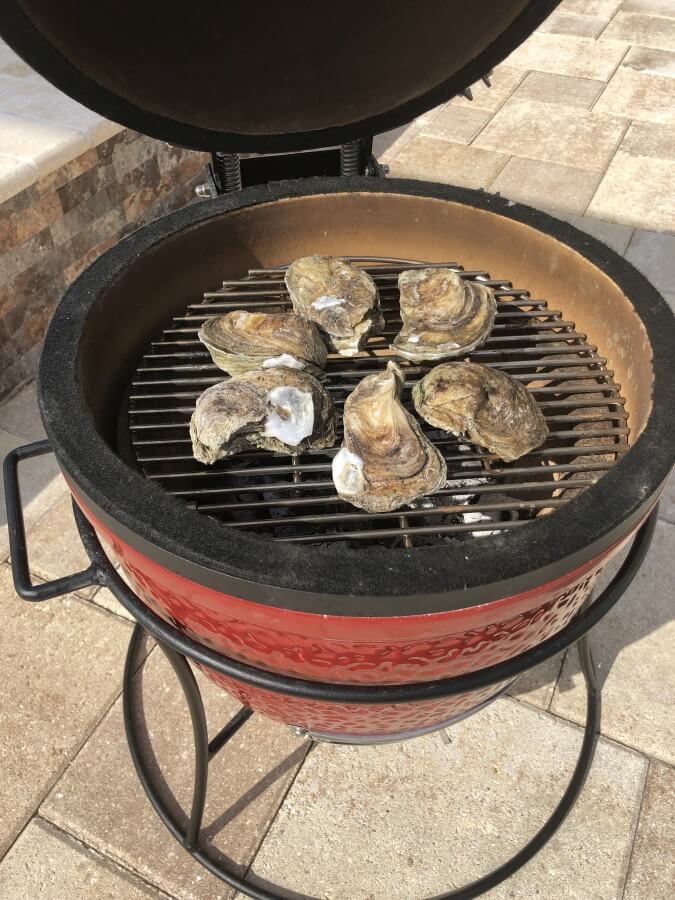 Austern auf dem Kamado Joe Junior Keramikgrill gegrillte austern-Gegrillte Austern vom Grill 02-Gegrillte Austern – So gelingen Austern vom Grill
