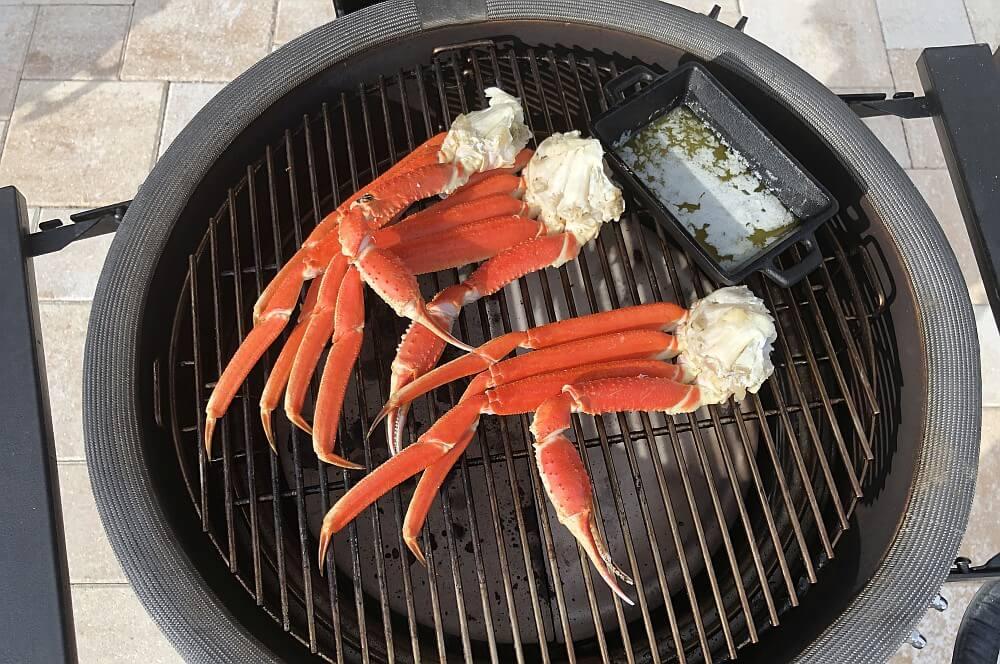 Die Krabbenbeine werden für 10 Minuten erhitzt schneekrabbe-Schneekrabbe Snow Crab Legs 03-Schneekrabbe – Snow Crab Legs vom Grill