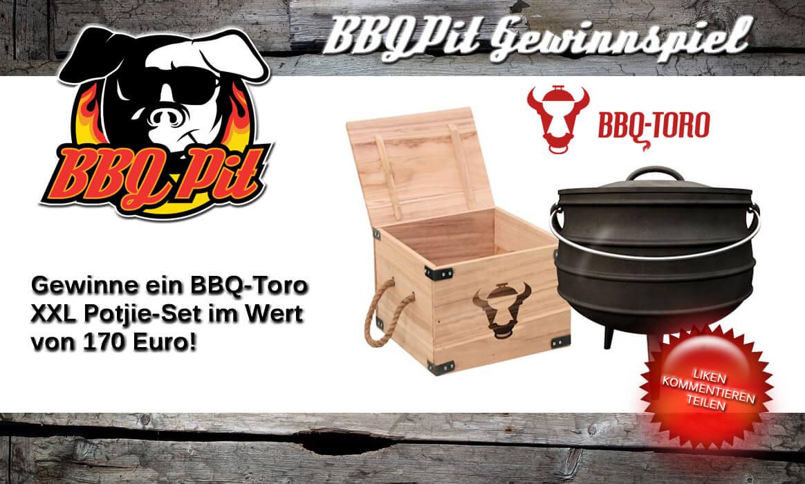 bbq-toro gewinnspiel-Gewinnspiel BBQ Toro Potjie-Gewinne ein BBQ-Toro XXL Potjie-Set im Wert von 170€