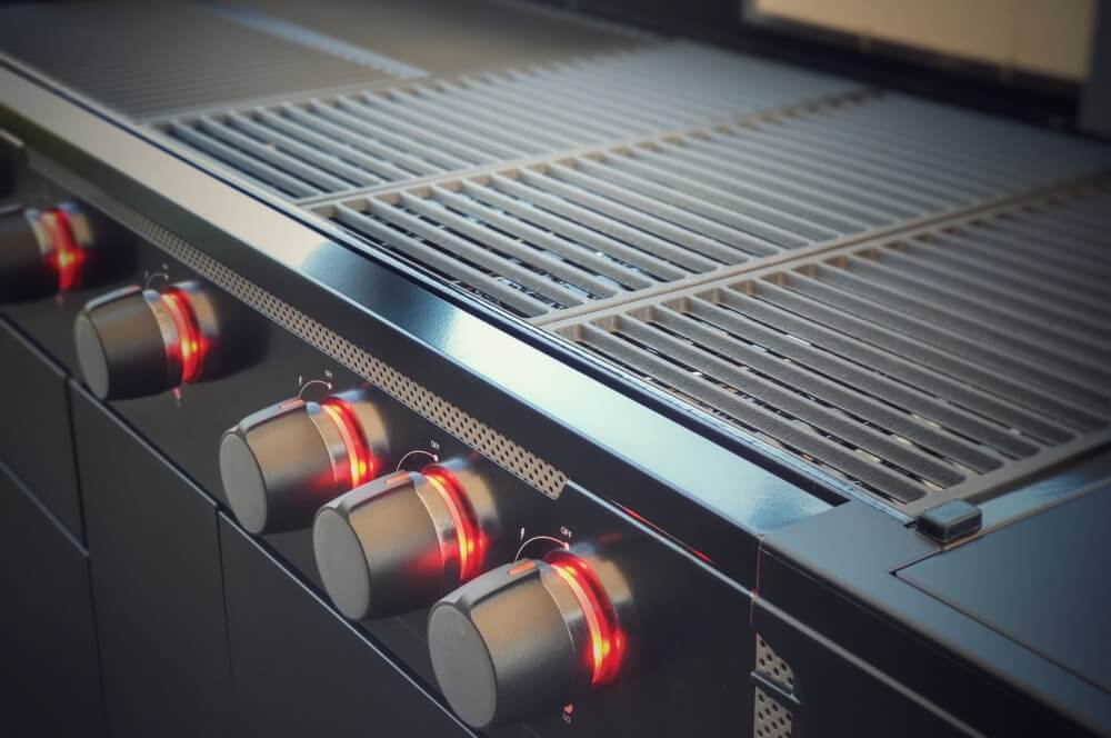 Die rote Beleuchtung wirkt sehr edel tenneker gasgrill halo tg5+-Tenneker Gasgrill HALO TG5 Test 13-Tenneker Gasgrill HALO TG5+ im Test