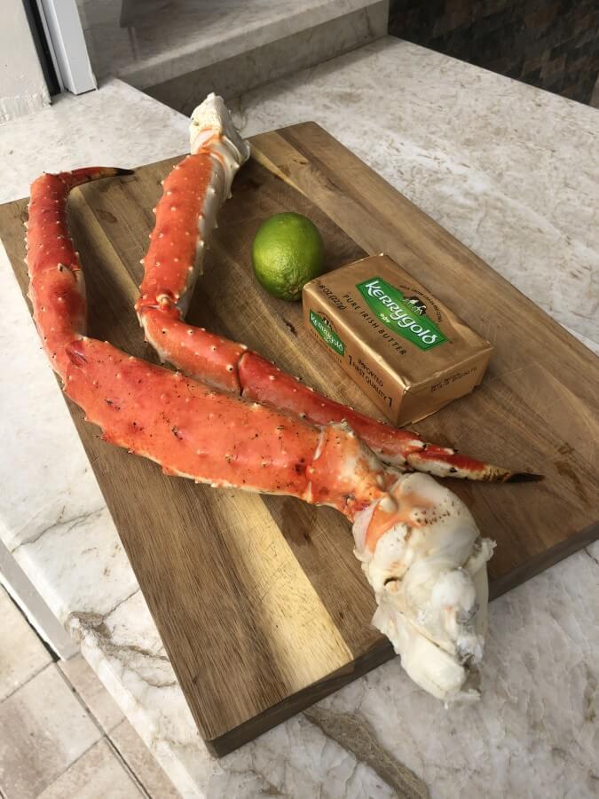 Alle Zutaten für King Crab Legs vom Grill king crab legs-King Crab Legs Koenigskrabbe 01-King Crab Legs – Königskrabbe vom Grill