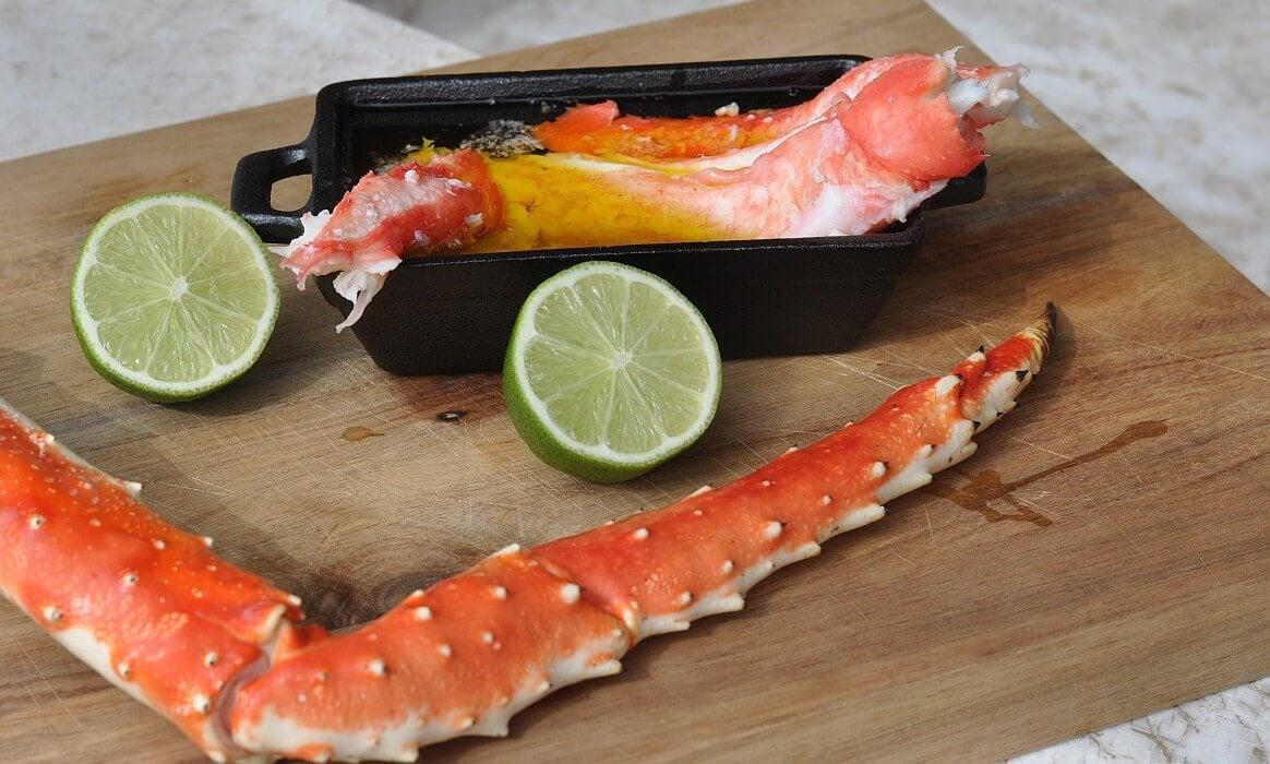 Königskrabbe king crab legs-King Crab Legs Koenigskrabbe-King Crab Legs – Königskrabbe vom Grill