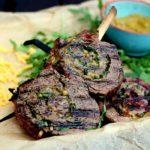 Flank Steak Pinwheels flank steak lollies-Flank Steak Lollies Rucola Cheddar 150x150-Flank Steak Lollies mit Cheddar und Rucola