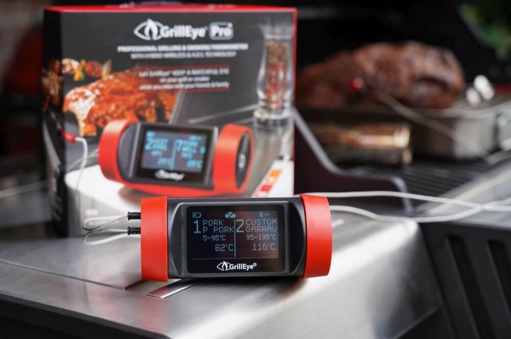 Das Thermometer überwacht das Pulled Pork pulled pork vom gasgrill-Pulled Pork vom Gasgrill 10-Pulled Pork vom Gasgrill – So gelingt es garantiert
