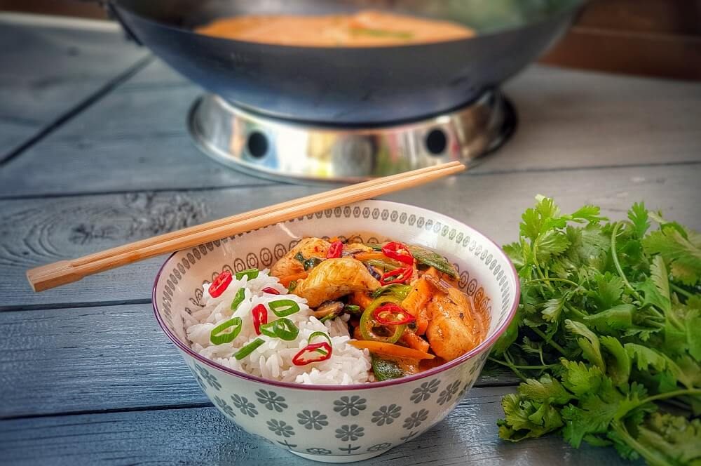 Rotes Thai Curry aus dem Wok rotes thai curry-Rotes Thai Curry Wok 04-Rotes Thai Curry aus dem Wok