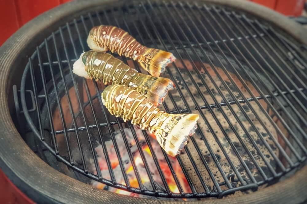 Langustenschwänze auf dem Kamado Joe lobster mac and cheese-Lobster Mac and Cheese 02-Lobster Mac and Cheese – Käse-Makkaroni mit Languste