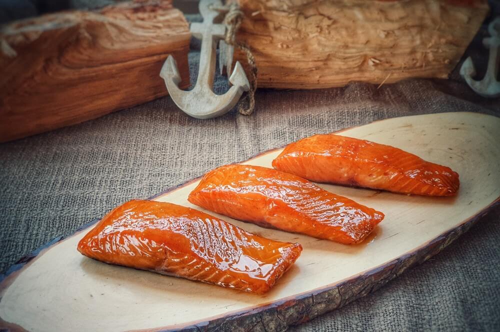 Candy Salmon - kandierter Lachs candy salmon-Candy Salmon Kandierter Lachs 04-Candy Salmon – Kandierter Lachs aus dem Rauch
