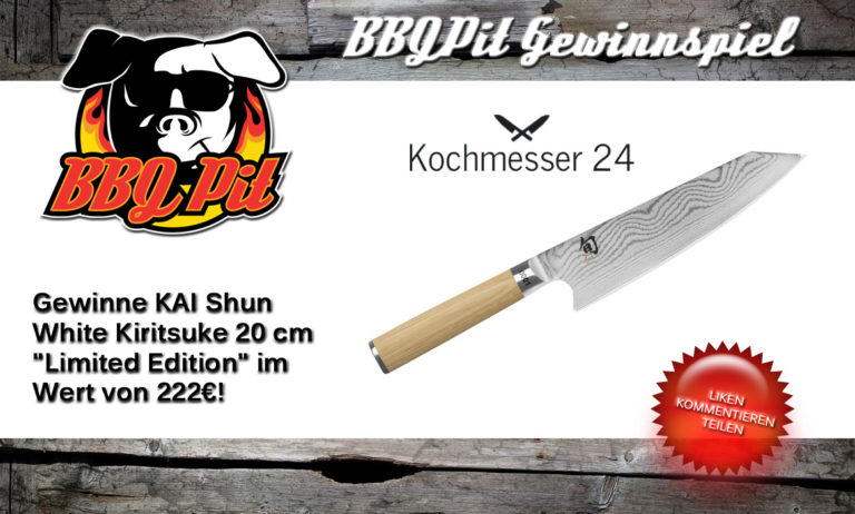"Gewinne ein KAI Shun White Kiritsuke 20 cm ""Limited Edition"" Wert 222€"