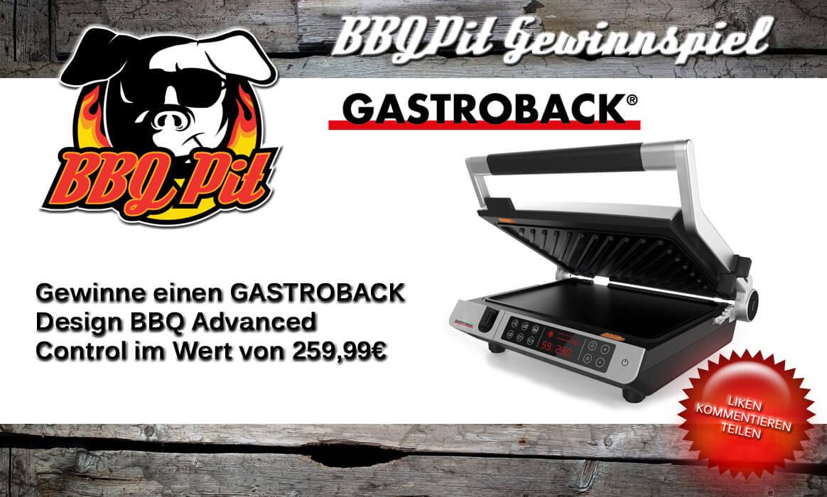 Gewinnspiel Gastroback gewinne einen gastroback design bbq advanced control-Gewinnspiel Gastroback BBQPit-Gewinne einen GASTROBACK Design BBQ Advanced Control (Wert 259€)