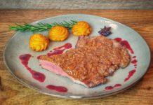 Iberico Secreto mit Lebkuchenkruste