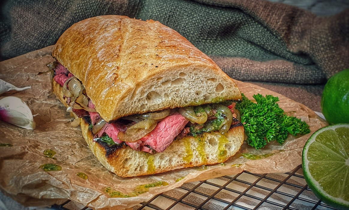 Cuban Steak Sandwich -Kubanisches Steak Sandwich Cuban-